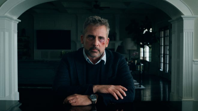 "This image released by Apple TV Plus shows Steve Carell in a scene from ""The Morning Show."" Carell was nominated for an Emmy Award for outstanding leading actor in a drama series on Tuesday, July 28, 2020."