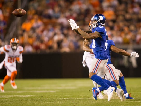 New York Giants wide receiver Odell Beckham (13) makes