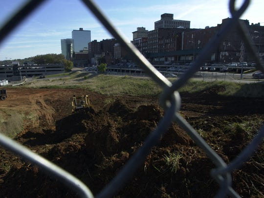 State Street site of proposed Universe Knoxville planetarium.