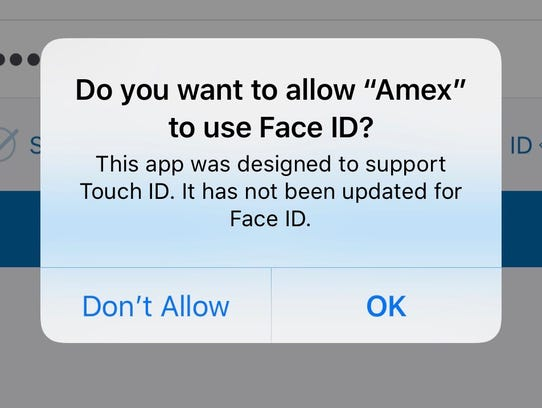 American Express app was designed for Touch ID but