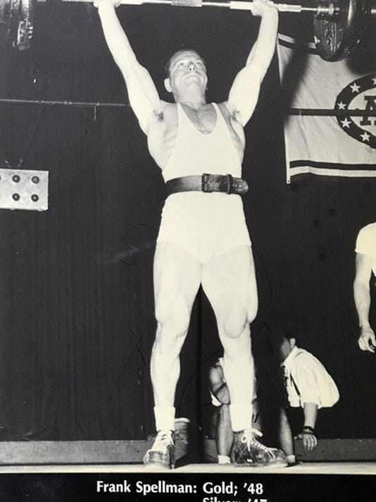 Frank Spellman, who lived and trained in York from 1945-1952, won a weightlifting gold medal during the 1948 London Olympics.