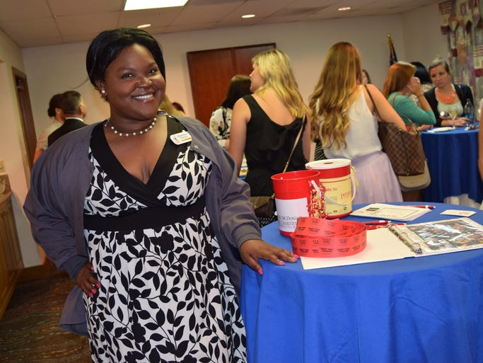 Shavon Chester, Membership Chair Person for Red Shoe Society at the Ronald McDonald House Charities' Red Shoe Society Mix and Mingle