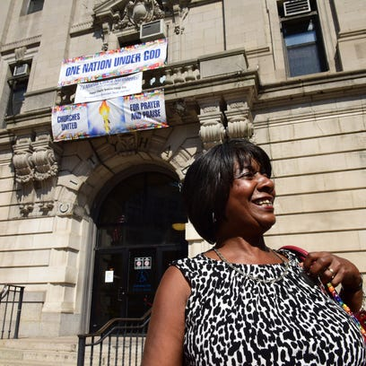 Interim Paterson Mayor Ruby Cotton arrives at City