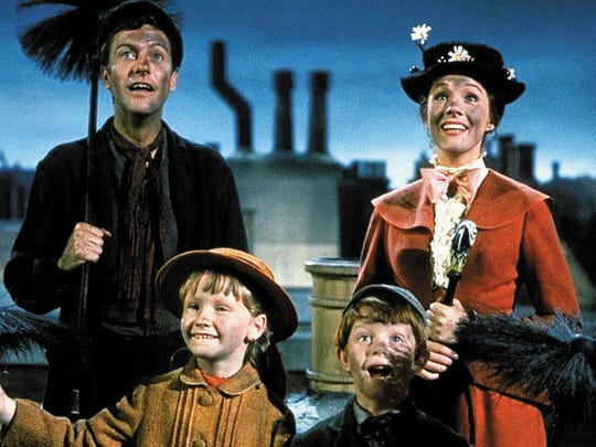 """Dick Van Dyke (left) and Julie Andrews (right) star in """"Mary Poppins."""""""
