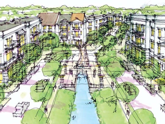 Renderings show planned development at Altoona's Prairie Crossing.