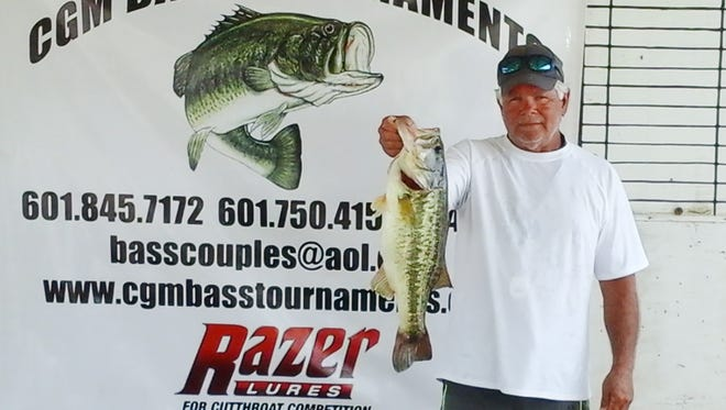 Larry Rochelle and Owen Dhonau (not pictured) took first place and biggest bass in Saturday's CGM Bass Tournaments' event on Ross Barnett Reservoir.