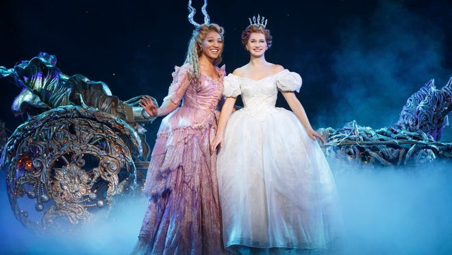 """Fairy Godmother (Leslie Jackson, left) helps the title character (Wisconsin native Tatyana Lubov) in """"Cinderella."""""""
