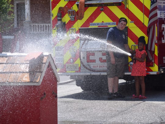Kyle Sooy, a volunteer at the Millville Fire Department,