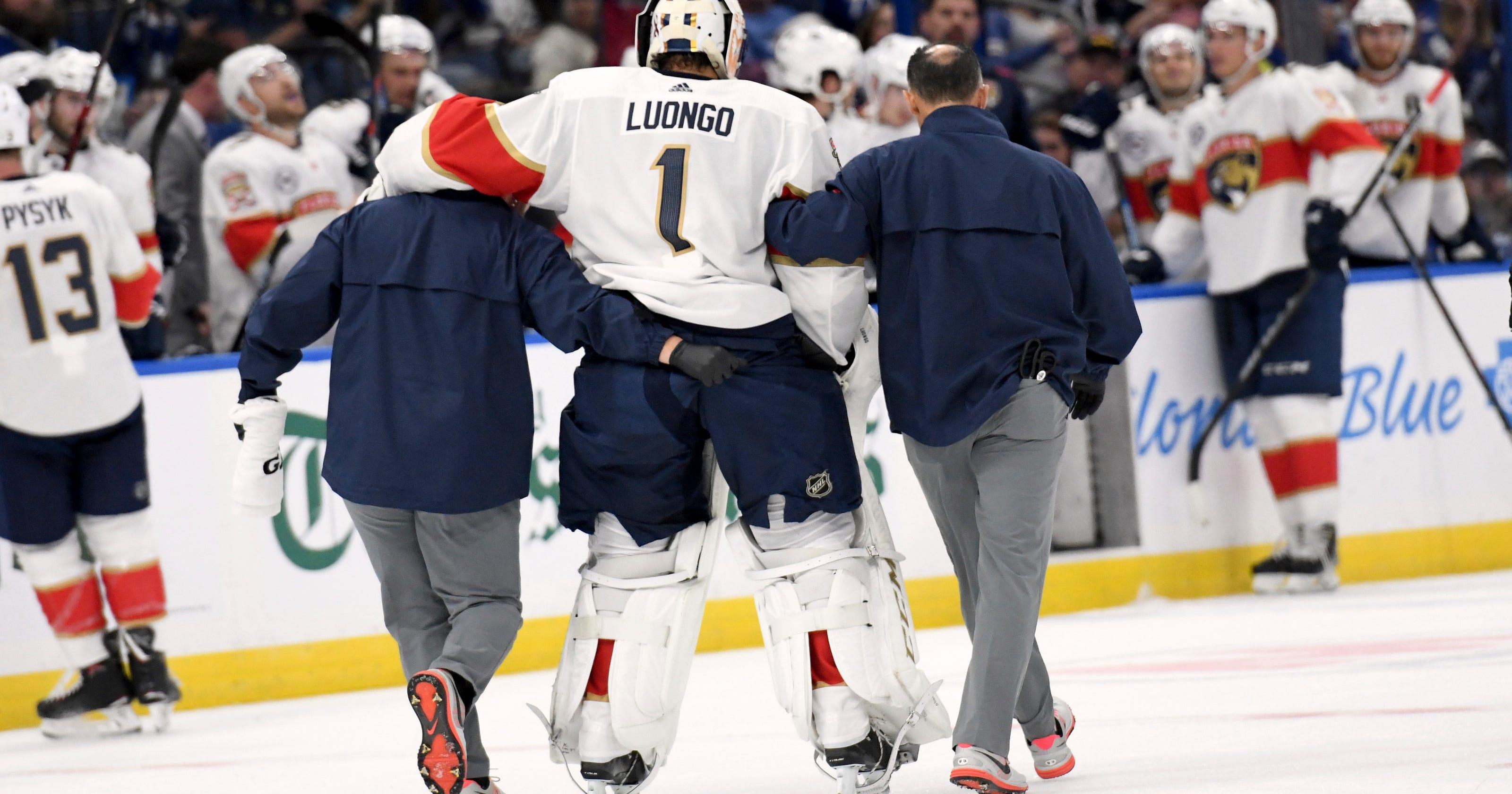 Florida Panthers Goalie Roberto Luongo Suffers Injury In Season Opener
