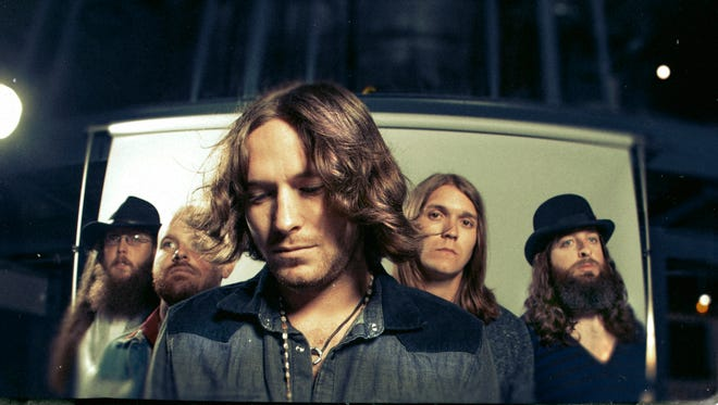 "Texas country-rock group Whiskey Myers (from left, Cody Tate, Gary Brown, Cody Cannon, John Jeffers, Jeff Hogg) will release its new album, ""Early Morning Shakes,"" Feb. 4."