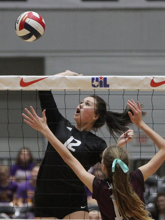 Iola defends it's volleyball state championship against Archer City