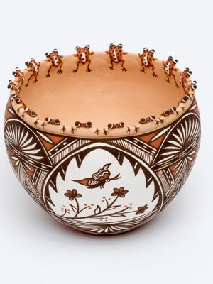 Bowl With Frogs on Rim by Noreen Simplicio won the director's award at the 2015 Zuni Festival of Arts & Culture at the Museum of Northern Arizona in Flagstaff.
