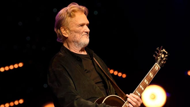 Kris Kristofferson looks on during The Life and Songs of Kris Kristofferson at Bridgestone Arena.