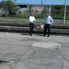 The site in Mid-City where a pizza delivery driver was fatally shot.