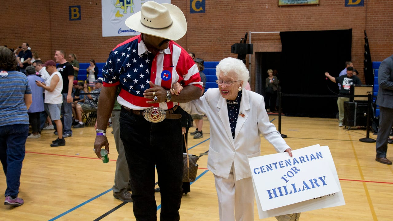 Jerry Emmett talks about going to the Democratic National Convention and voting for a woman. The 102-year-old Prescott resident saw her mother earn the right to vote.