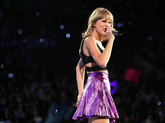 """Taylor Swift performs during the """"1989"""" world tour Aug. 22 at Staples Center in Los Angeles."""