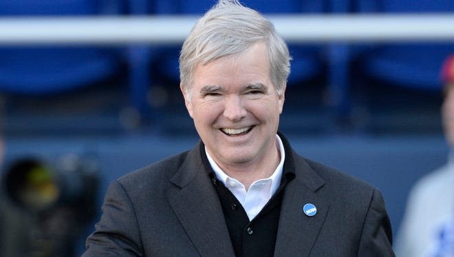 Mark Emmert was president at the University of Washington, his alma mater, from 2004 to 2010