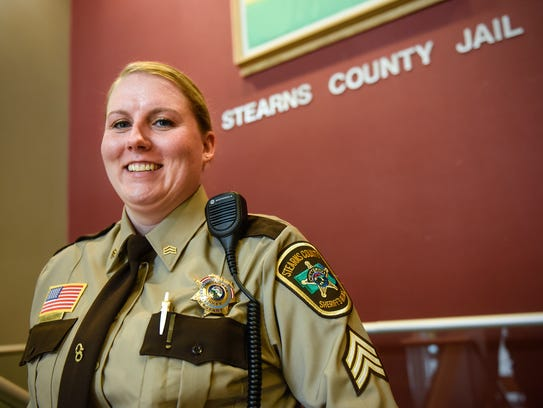 Stearns County Sergeant Jody Weisser stands near an