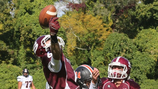 Scarsdale's Barry Klein intercepts the ball in the