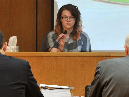 Whitney Mercedes O'Brien testifies in the Blayne William Brooks murder trial