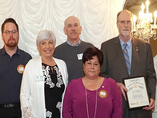 (Back row, from left) New Vineland Rotary Member Will
