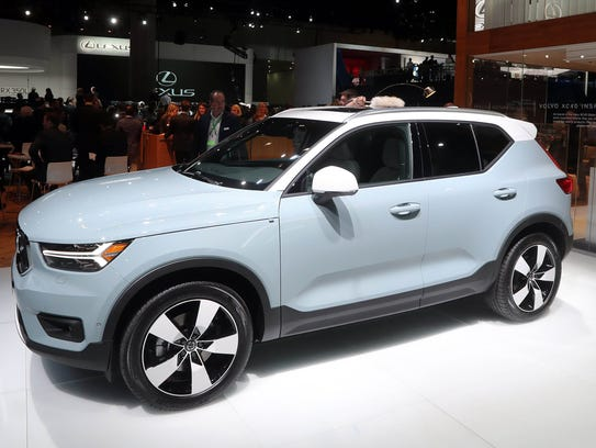 The 2019 Volvo XC40 is displayed at the LA Auto Show