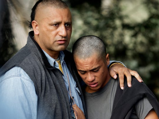 "Cliff Curtis (leftt) and James Rolleston star in ""The"