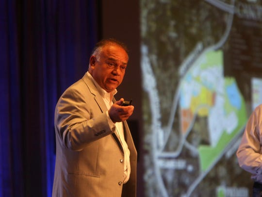 Steve Ghazvini presents at the Greater Tallahassee Chamber of Commerce's 2017 Community Conference at the Omni Amelia Island Plantation August 13.