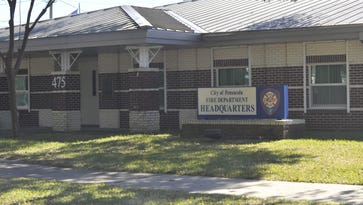 Pensacola's interim fire chief Matt Schmitt and assistant fire chief Joseph Glover were placed on administrative leave in connection with Equal Employment Opportunity Commission complaints, according to city administrator Eric Olson.