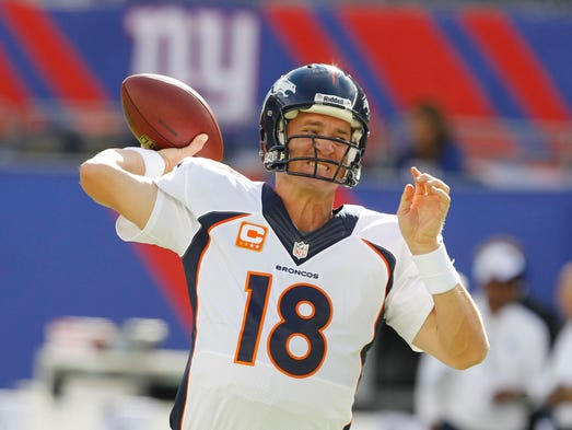 PEYTON MANNING: Broncos quarterback Manning a has 12-4 career record on Monday Night Football. Last week he became the first QB in the Super Bowl era to win 13 consecutive regular season games three separate times. Manning is only player in NFL history to have nine TD passes with no interceptions through first two weeks of season.