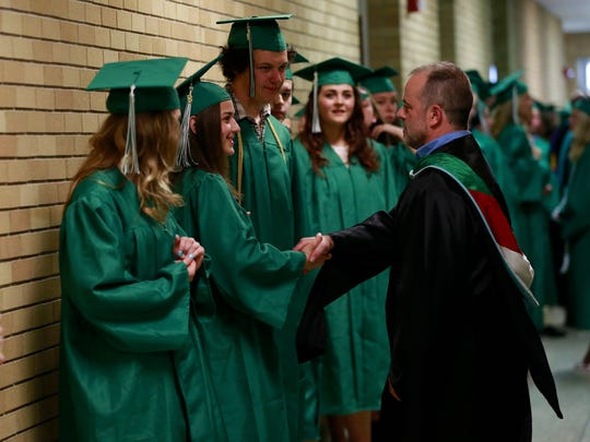 D.C. Everest High School celebrates its class of 2018 graduation ceremony Thursday, June 7, 2018, at the high school gymnasium in Weston, Wis. T'xer Zhon Kha/USA TODAY NETWORK-Wisconsin