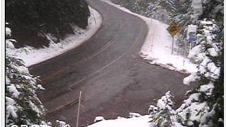 Snow will continue to hit Cascade Range passes this week.