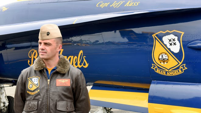This May 19 photo shows Marine Capt. Jeff Kuss at an airshow in Lynchburg, Va.