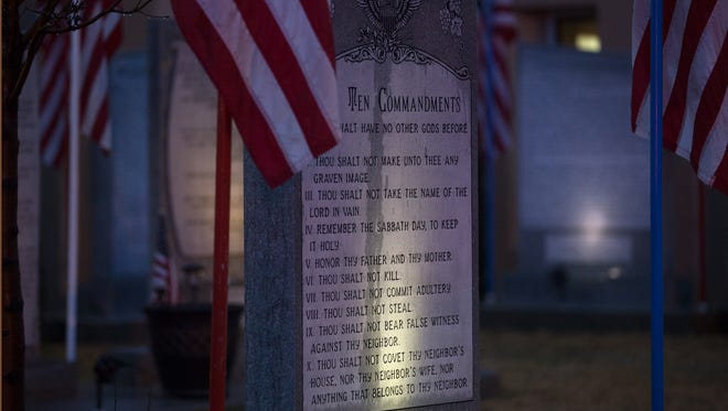 The Ten Commandments monument outside Bloomfield City Hall will be relocated to private property within 30 days.
