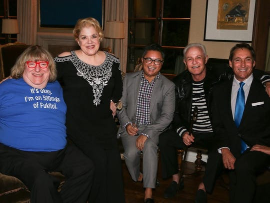 The evening celebrities- Bruce Valanch, Sharon McNight, Eric Mapa, Michael Childers, Michael Corbett