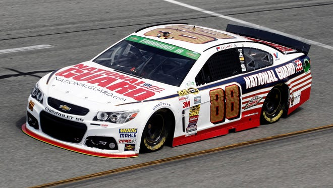 The National Guard car is seen at Richmond International Raceway on April 25.