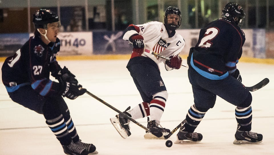 The Great Falls Americans skated against the Billings