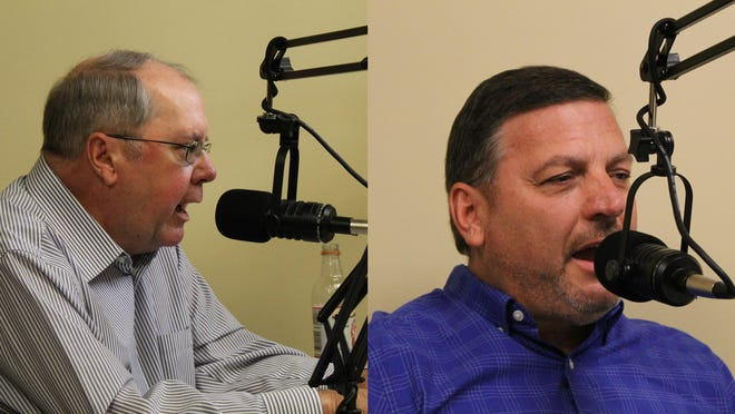 Sen. Anthony Hensley, D-Topeka, left, and Republican challenger Rick Kloos face off in the 19th Senate District race.