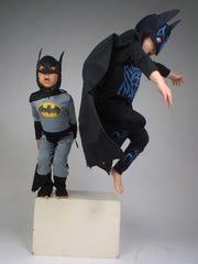 Karina Bland let her son, Sawyer, right, wear a Batman
