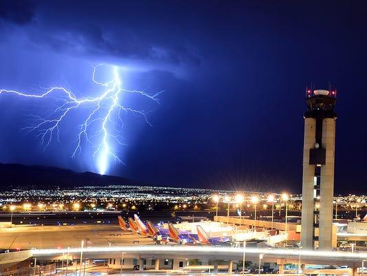 Thunderstorms Sweep Through Las Vegas