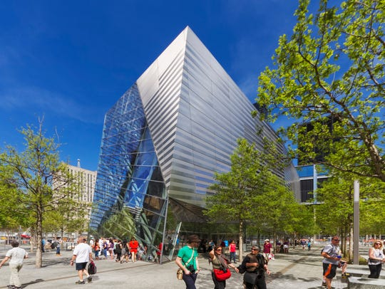 Architecture firm Snøhetta designed the 9/11 Memorial Museum Pavillion in New York City.