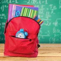 Backpack ready for school