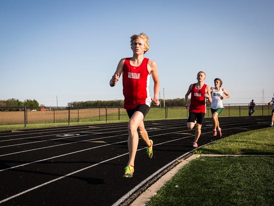 Wapahani's Alex Herbst pulls ahead while competing