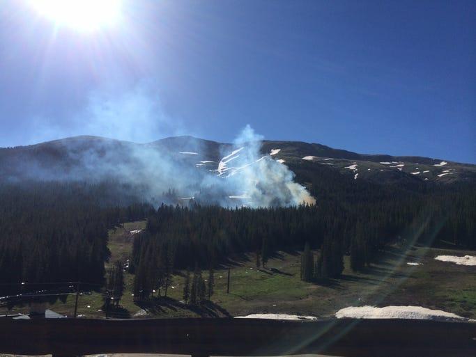 A small plane has crashed at Loveland Ski area Monday morning.