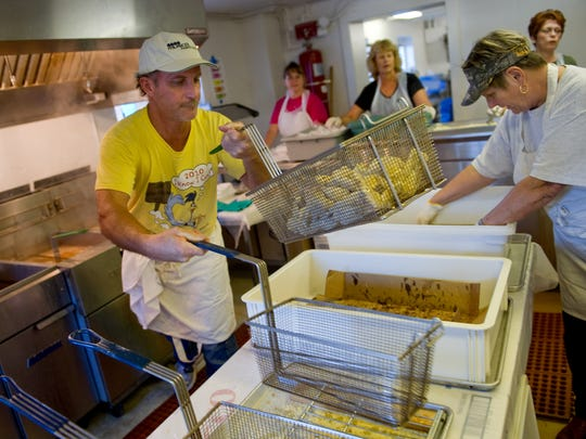At this year's Frog Leg Festival, more than 7,000 dinners will be sold over the four-day period, representing more than 4,000 pounds of frog legs and 2,000 pounds of gator tail.