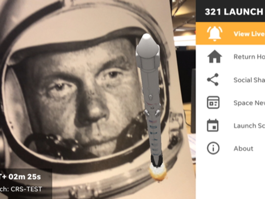 """During a """"test launch"""" of the 321 LAUNCH app by USA"""