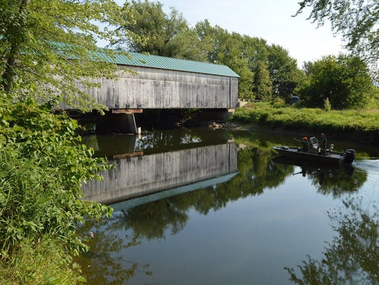 The Station Covered Bridge is pictured in August 2015.