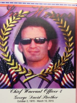 This is the card that serves as a memento for those attending the David Strother visitation and/or funeral.