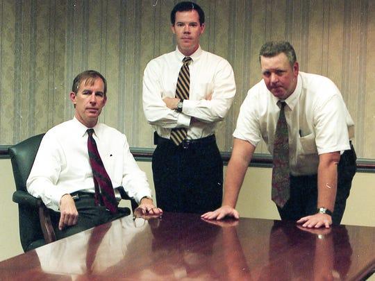 Capano prosecution team, from left, prosecutors Ferris Wharton, Colm Connolly and lead detective Bob Donovan.