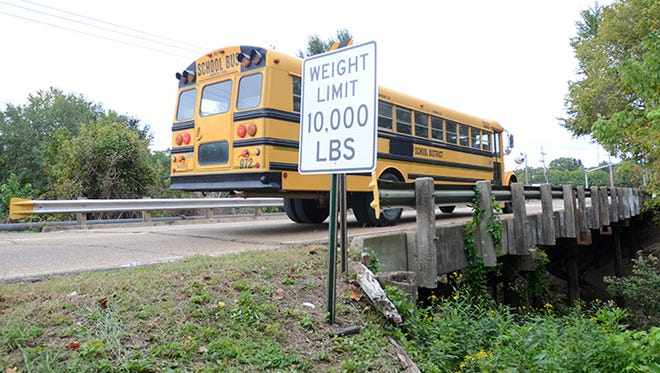 Aging and with a 10,000 pound load rating, the bridge over Big Creek on Davis Road in Byram is considered a danger by some.